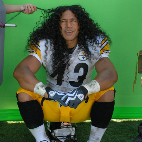 Troy Polamalu wax